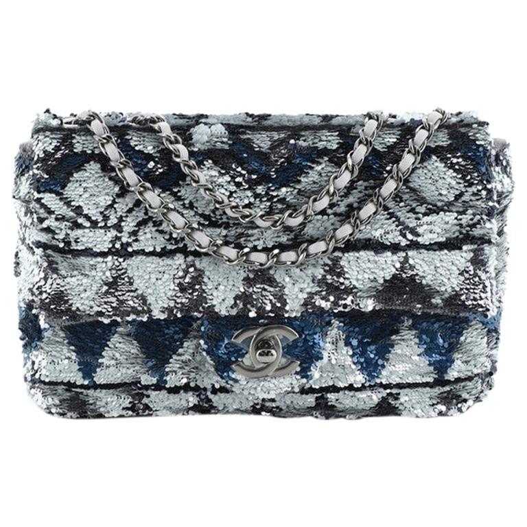 Chanel CC Chain Flap Bag Multicolor Sequins Mini