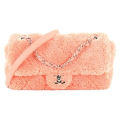 Chanel CC Chain Flap Bag Quilted Mixed Fibers Medium