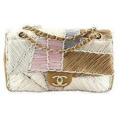 Chanel CC Chain Flap Bag Raffia Patchwork Medium