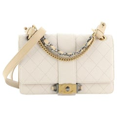 Chanel CC Chain Flap Shoulder Bag Quilted Calfskin Small