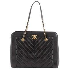 Chanel CC Chain Shopping Tote Chevron Calfskin Medium