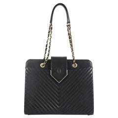 Chanel CC Chain Top Flap Tote Chevron Sheepskin Medium
