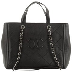 Chanel CC Chain Tote Quilted Deerskin Medium