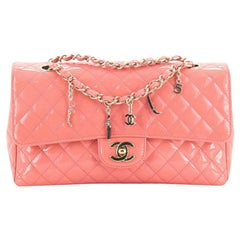 Chanel CC Charms Flap Bag Quilted Patent Medium