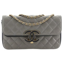 Chanel CC Chic Double Flap Bag Quilted Lambskin Small