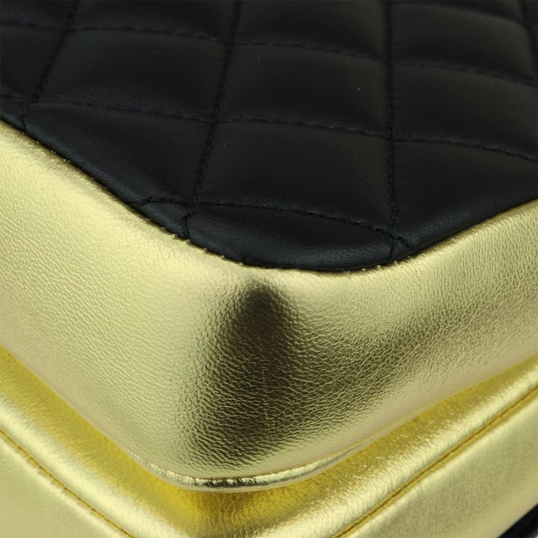 CHANEL CC Chic Flap Bag Black and Gold Lambskin with Brushed Gold Hardware 2019 7