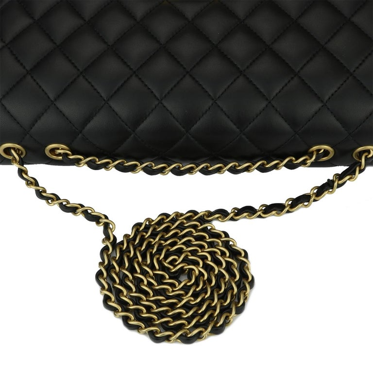 CHANEL CC Chic Flap Bag Black and Gold Lambskin with Brushed Gold Hardware 2019 8
