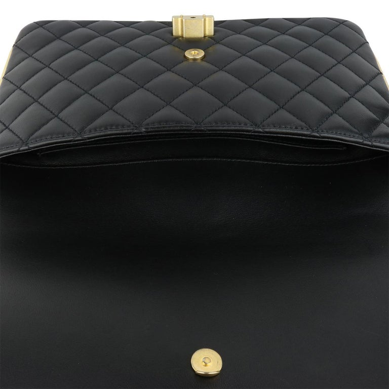 CHANEL CC Chic Flap Bag Black and Gold Lambskin with Brushed Gold Hardware 2019 12