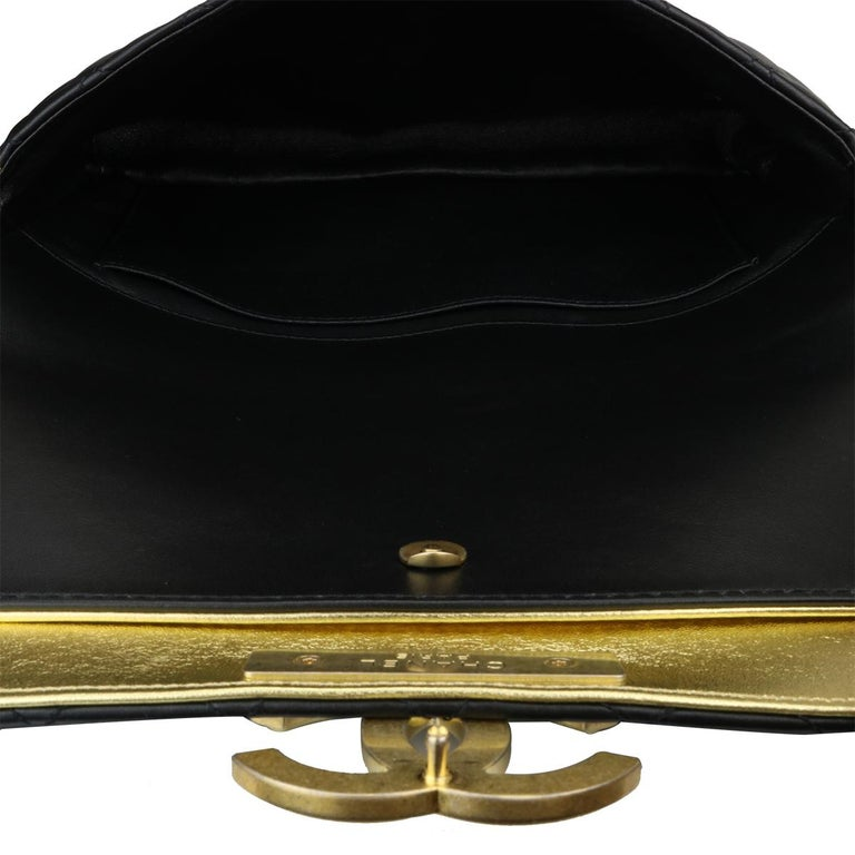 CHANEL CC Chic Flap Bag Black and Gold Lambskin with Brushed Gold Hardware 2019 13