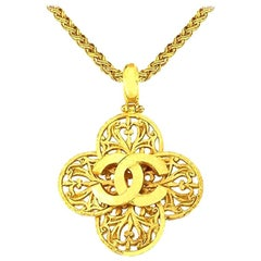 Chanel CC Clover Necklace