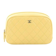 Chanel CC Cosmetic Pouch Quilted Lambskin Medium