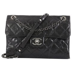 Chanel CC Crave Flap Bag Quilted Glazed Caviar Medium