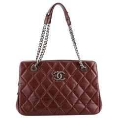 Chanel CC Crown Tote Quilted Aged Calfskin Medium