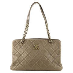 Chanel CC Crown Tote Quilted Leather Medium