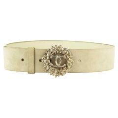 Chanel CC Crystal Embellished Suede Waist Belt