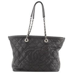 Chanel CC Daily Shopping Tote Quilted Caviar Small