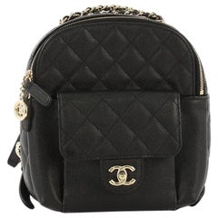 Chanel CC Day Backpack Quilted Caviar Mini