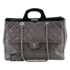 Chanel CC Delivery Tote Quilted Glazed Calfskin Large