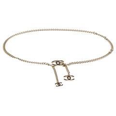 Chanel CC Enamel Gold Tone Chain Link Belt
