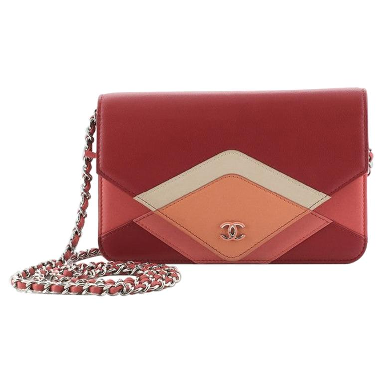 Chanel CC Envelope Wallet on Chain Patchwork Lambskin