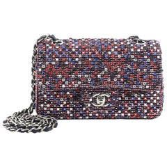 Chanel CC Flap Bag Embellished Tweed Medium