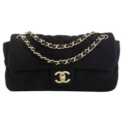 Chanel CC Flap Bag Quilted Jersey East West