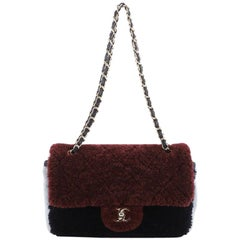 Chanel CC Flap Bag Quilted Shearling Medium