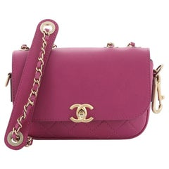 Chanel CC Flap Bag with Coin Purse Quilted Calfskin