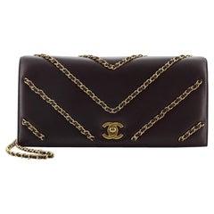 Chanel CC Flap Clutch Lambskin with Chevron Chain Detail Medium