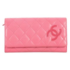 Chanel CC Flap Wallet Quilted Lambskin Long