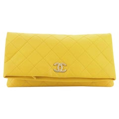 Chanel CC Full Flap Clutch Quilted Lambskin Large