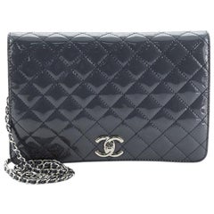 Chanel CC Full Flap Crossbody Pouch Quilted Patent