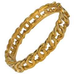 Chanel CC Gold Bangle