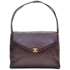 Chanel CC Kelly Flap Bag Vintage Brown