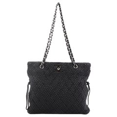 Chanel CC Lock Bon Bon Tote Matelasse Leather Large