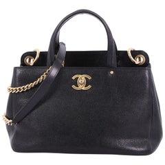 Chanel CC Lock Shopping Tote Caviar Small