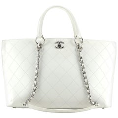 Chanel CC Lock Shopping Tote Quilted Calfskin Large