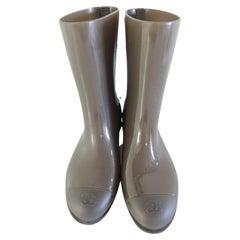 Chanel CC Logo Rain Boots