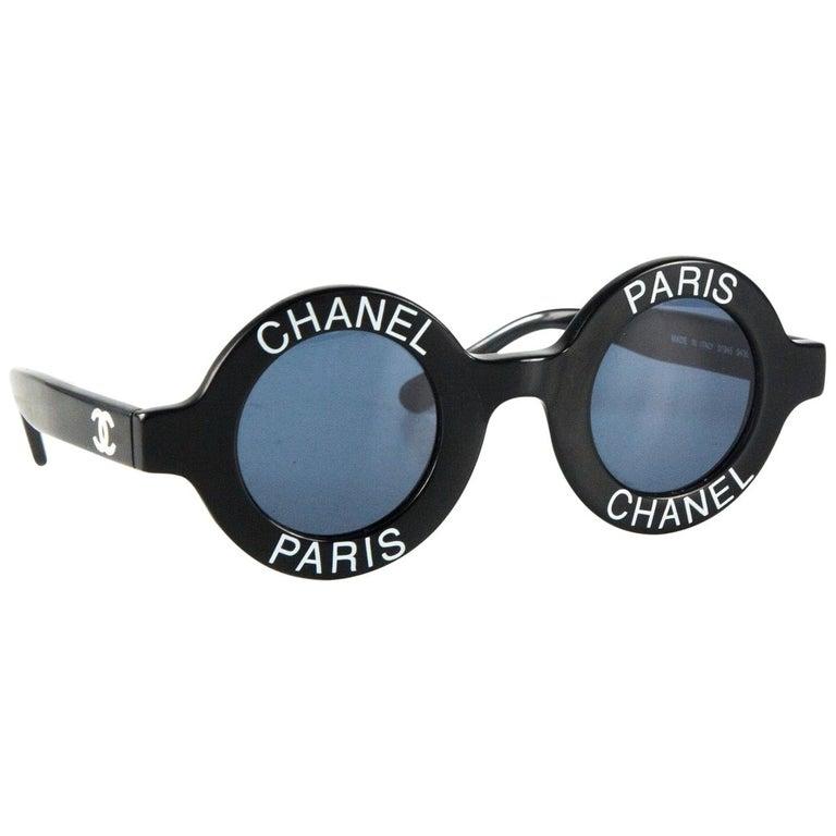 Chanel Sunglasses CC Logos Eye Wear Black Chanel Sunglasses For Sale
