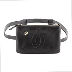Chanel CC Mania Double Zip Belt Bag Lambskin