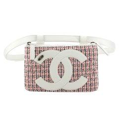 Chanel CC Mania Double Zip Belt Bag Tweed with Lambskin