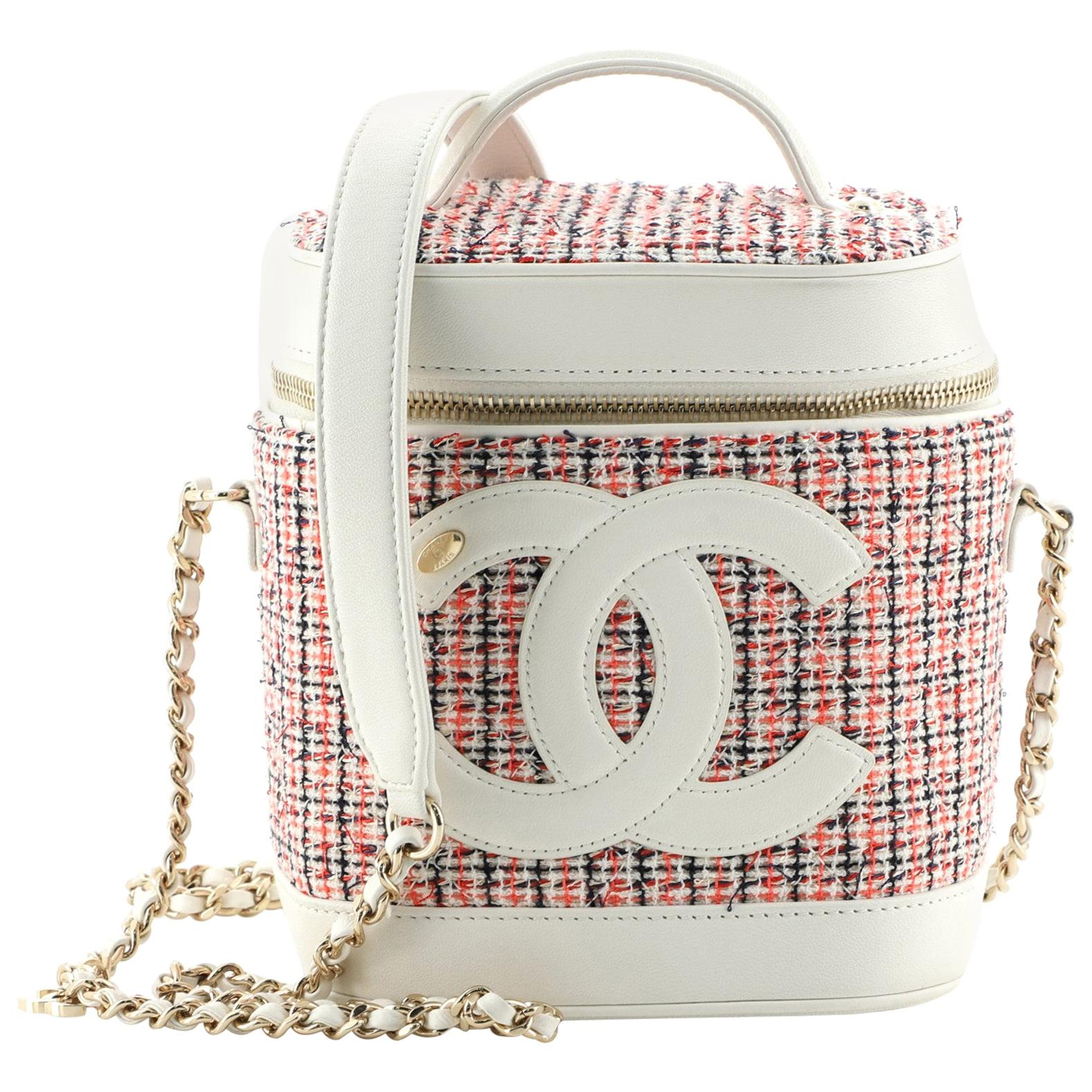 Chanel CC Mania Vanity Case Tweed with Lambskin