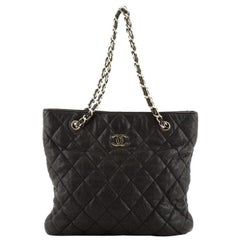 Chanel CC Open Chain Tote Quilted Calfskin Medium
