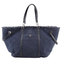 Chanel CC Open Tote Fringe Quilted Canvas Medium