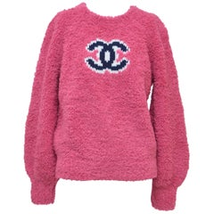 CHANEL CC Pink Teddy Sweater  Jumper  NEW   Size 40FR