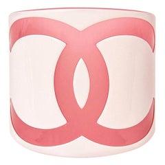 Chanel CC Plastic Wide Cuff Bracelet