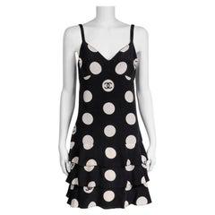 "Chanel ""CC"" Polka-Dot Runway Ruffled Dress, Spring-Summer 1997"