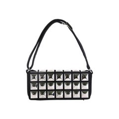 Chanel CC Pyramid Stud Flap Bag Embellished Jersey
