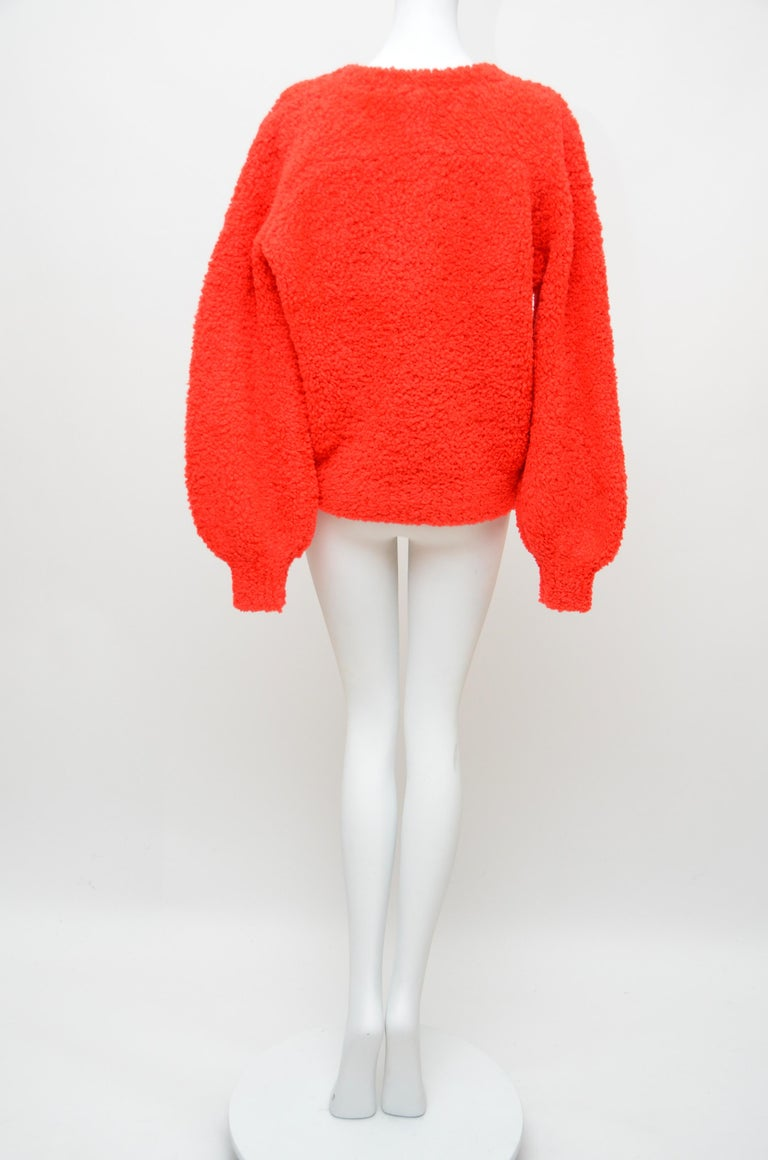 CHANEL CC Red Teddy Sweater   NEW   Size 40FR 1