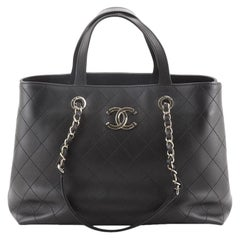 Chanel CC Shopping Tote Stitched Calfskin Large